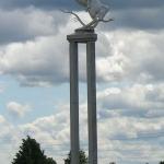 Gedimino Karaliaus skulptūra skirta Vyčio apygardos partizanams