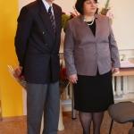 Kapitonas P. Kovas ir bibliotekos direktorė R. Bagdonienė