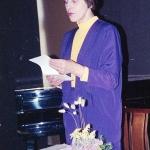 E. Mezginaitė skaito savo poeziją