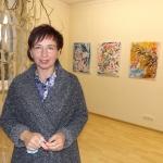 Rūta Grybienė prie savo parodos